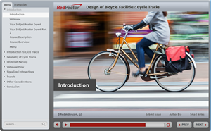 Design of Bicycle Facilities - Cycle Track Design